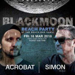 Black Moon Party Flyer